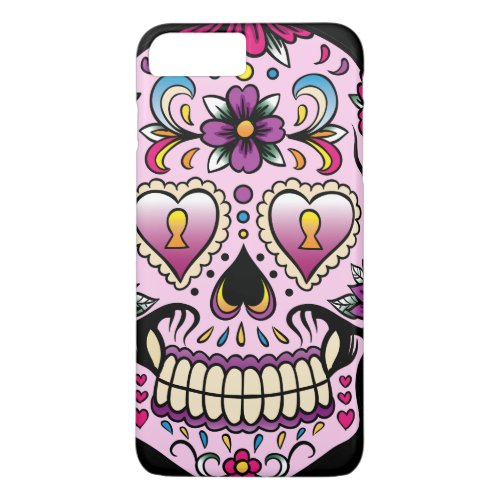 Day of the Dead Sugar Skull Pink Phone Case