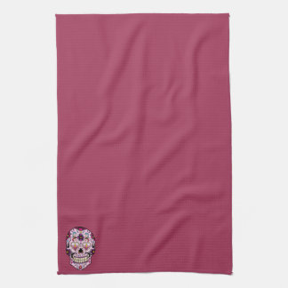 Day of the Dead Sugar Skull Pink Hand Towel