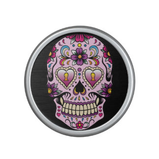 Day of the Dead Sugar Skull Pink Bluetooth Speaker