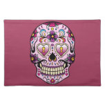 Day of the Dead Sugar Skull Pink Place Mats