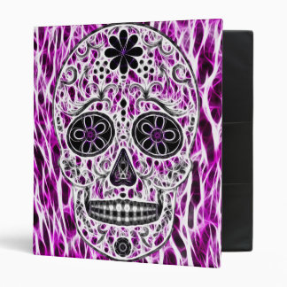 Day of the Dead Sugar Skull - Pink & Purple 2.0 Binder