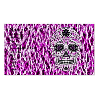 Day of the Dead Sugar Skull - Pink & Purple 2.0 Business Card