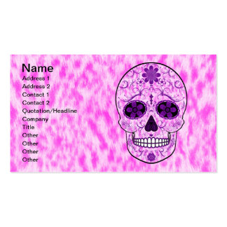 Day of the Dead Sugar Skull - Pink & Purple Business Card