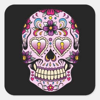 Day of the Dead Sugar Skull Pink Sticker