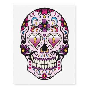 7fdad64eb Day of the Dead Sugar Skull Pink Temporary Tattoos