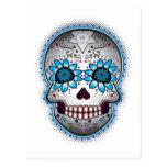Day Of The Dead Sugar Skull Post Card