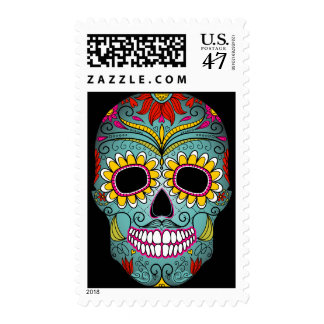 Day of the Dead Sugar Skull Postage