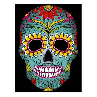 Day of the Dead Sugar Skull Postcard