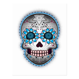 Day Of The Dead Sugar Skull Post Card