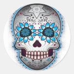 Day Of The Dead Sugar Skull Round Sticker