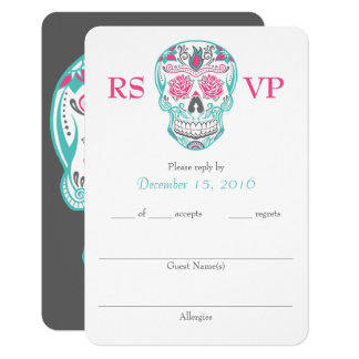 """Day of the Dead Sugar Skull RSVP cards 3.5"""" x 5"""""""