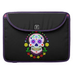 Day of the Dead Sugar Skull Sleeve For MacBook Pro