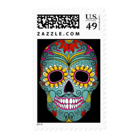 Day of the Dead Sugar Skull Stamps