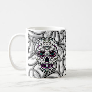 Day of the Dead Sugar Skull - Swirly Multi Color Coffee Mug