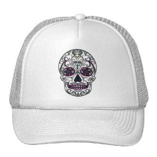 Day of the Dead Sugar Skull - Swirly Multi Color Trucker Hat