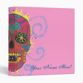 Day of The Dead Sugar Skull Tattoo Design 3 Ring Binder
