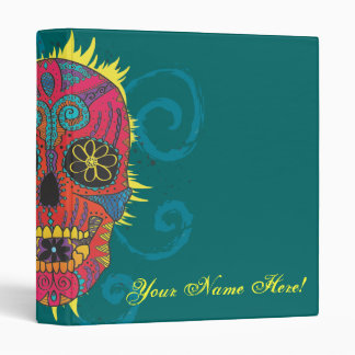 Day of The Dead Sugar Skull Tattoo Design Binders