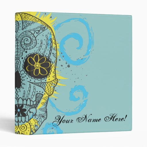 Day of The Dead Sugar Skull Tattoo Design Binders