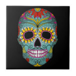 "Day of the Dead Sugar Skull Tile<br><div class=""desc"">This is a gorgeous Day of the Dead sugar skull that would make a great gift for any occasion.</div>"