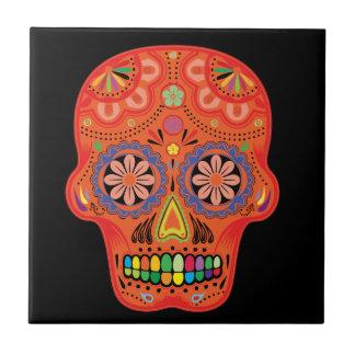 Day of the dead sugar skull tiles