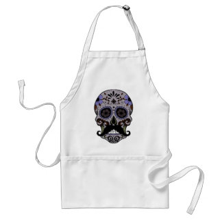 Day of the Dead Sugar Skull w/Mustache Adult Apron