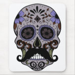 Day of the Dead Sugar Skull w/Mustache Mouse Pad