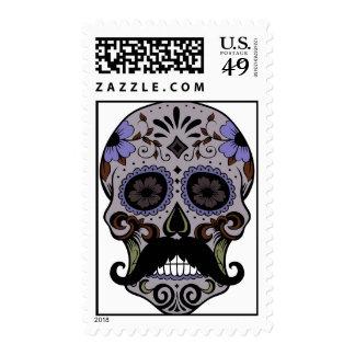 Day of the Dead Sugar Skull w/Mustache Stamp