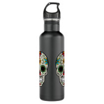 Day of the Dead Sugar Skull Water Bottle
