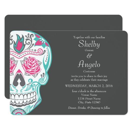 Day of the Dead Sugar Skull Wedding Invitation   Zazzle.com