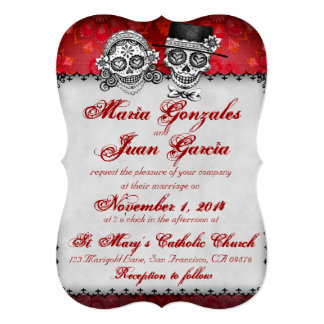Day of the Dead Sugar Skull Wedding Invitations 2