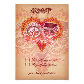 Day of the Dead Sugar Skull Wedding RSVP Cards