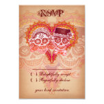 "Day of the Dead Sugar Skull Wedding RSVP Cards 3.5"" X 5"" Invitation Card"