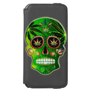 Day of the Dead Sugar Skull weed iPhone 6/6s Wallet Case