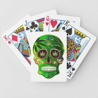 Day of the Dead Sugar Skull weed Shirt Bicycle Playing Cards