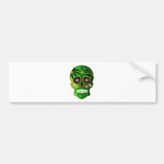 Day of the Dead Sugar Skull weed Shirt Bumper Sticker