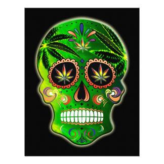 Day of the Dead Sugar Skull weed Shirt Letterhead
