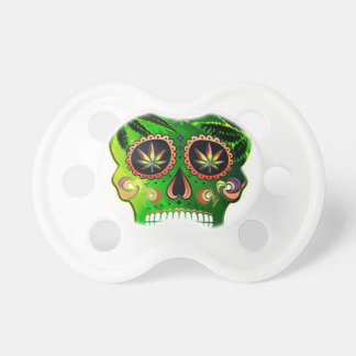 Day of the Dead Sugar Skull weed Shirt Pacifier