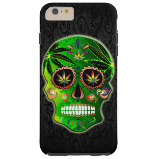 Day of the Dead Sugar Skull weed Tough iPhone 6 Plus Case