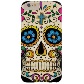 Day of the Dead Sugar Skull with Cross Barely There iPhone 6 Plus Case