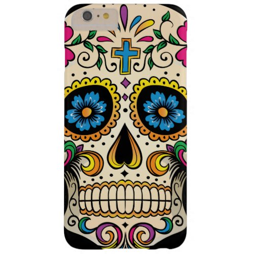 Day of the Dead Sugar Skull with Cross Phone Case