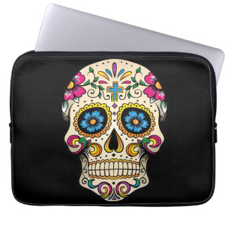 Day of the Dead Sugar Skull with Cross Computer Sleeve