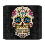 Day of the Dead Sugar Skull with Cross Cutting Board