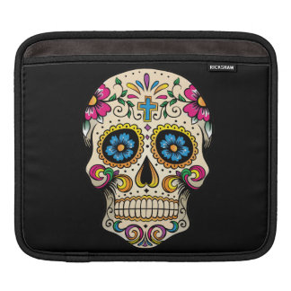 Day of the Dead Sugar Skull with Cross iPad Sleeve