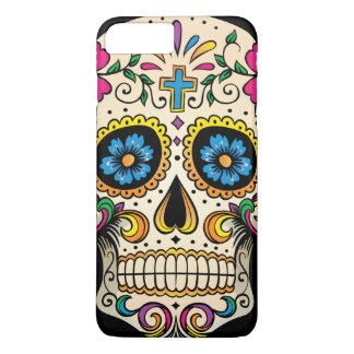 Day of the Dead Sugar Skull with Cross iPhone 7 Plus Case