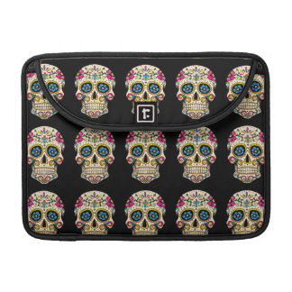 Day of the Dead Sugar Skull with Cross MacBook Pro Sleeves