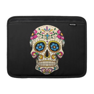 Day of the Dead Sugar Skull with Cross MacBook Sleeves
