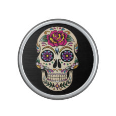Day of the Dead Sugar Skull with Rose Bluetooth Speaker