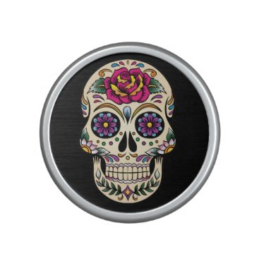 BlackBrookElectronic Day of the Dead Sugar Skull with Rose Bluetooth Speaker