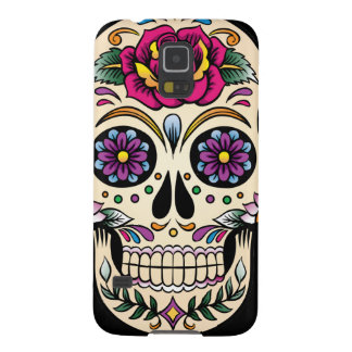 Day of the Dead Sugar Skull with Rose Galaxy S5 Cases