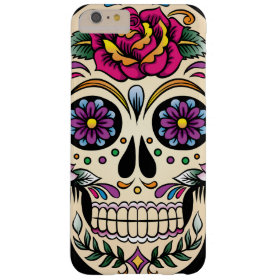 Day of the Dead Sugar Skull with Rose Barely There iPhone 6 Plus Case